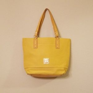 Sarah Violet Yellow Canvas Tote Bag